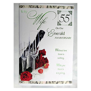 55th Anniversary Card for Wife