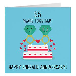 55th Wedding Anniversary Card