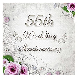 55th Wedding Anniversary Guest Book