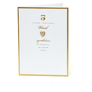 5th Wedding Anniversary Card