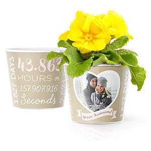 5th Year Anniversary Flower Pot