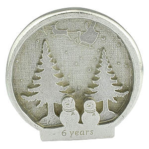 6 Anniversary Snowman Snowglobe