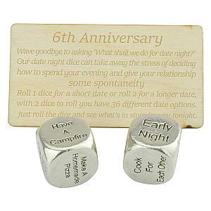 6 Year Anniversary Date Dice