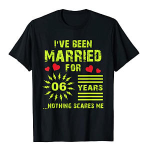 6 Year Anniversary T-Shirt for Him
