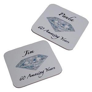 60 Years Personalised Coasters