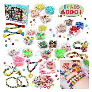6000 Pieces DIY Beads Kit