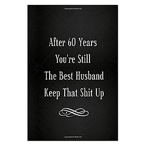 60th Anniversary Lined Notebook
