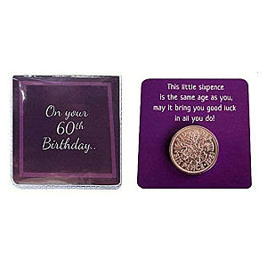 60th Birthday Lucky Sixpence