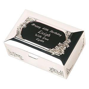 60th Engraved Trinket Box
