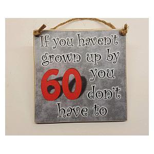 60th Hanging Plaque