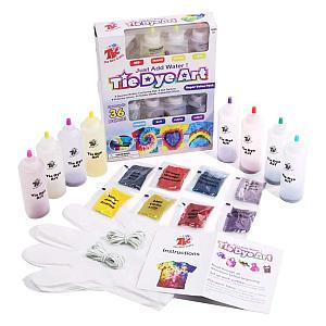 65 Piece Tie Dye Art Craft Kit