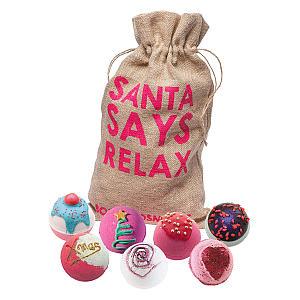 7 Bath Bombs in Santa Sack