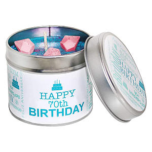70th Birthday Scented Candle