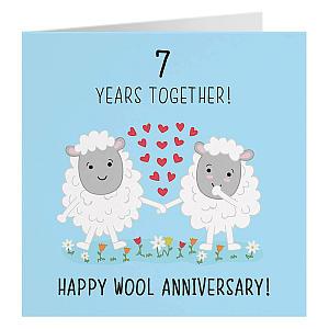 7th Anniversary Card