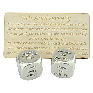 7th Anniversary Date Dice