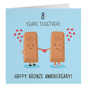 8 Year Anniversary Card