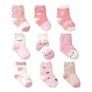 9 Pairs Baby Girl Socks