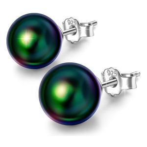 925 Sterling Silver Earrings with Swarovski Pearls