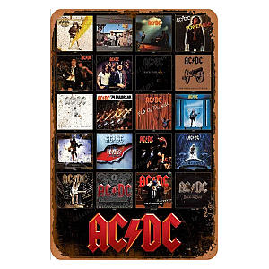 ACDC Discography Tin Sign