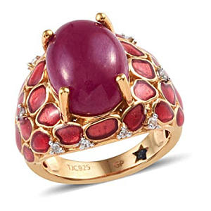 African Ruby Dome Ring