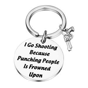 Amusing Shooting Engraved Keyring