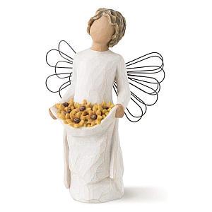 Angel Presenting Sunflowers Figurine