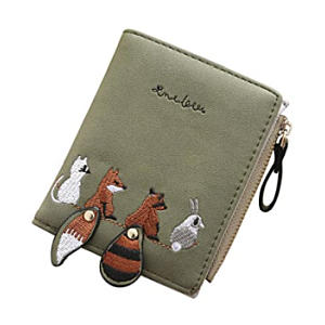 Animal Embroidered Wallet for Women