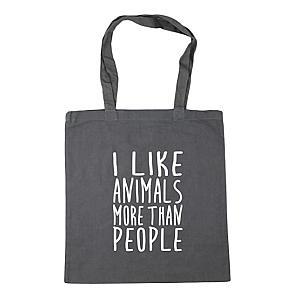 Animal Lovers Caption Tote Bag