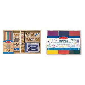 Animal Stamp & Stencil Set for Kids