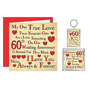 Anniversary Card, Keyring and Fridge Magnet