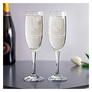 Anniversary Champagne Flutes