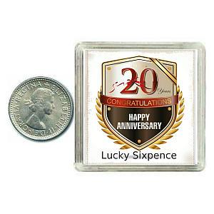 Anniversary Lucky Sixpence