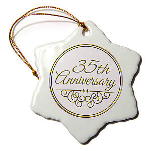 Anniversary Snowflake Decoration