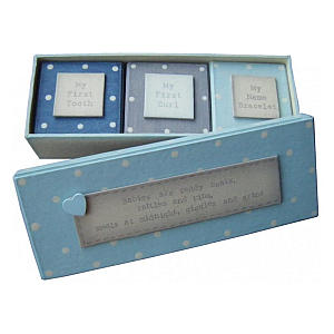 Baby Blue First Tooth and Curl Gift Box