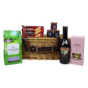 Baileys, Coffee and Food Wicker Basket