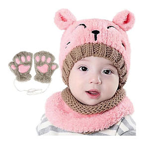 Bearbro Girls Winter Scarf Hat and Gloves
