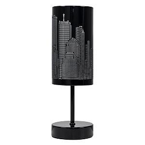 Black Gloss Skyline Touch Table Lamp
