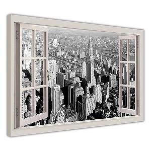 Black and White City Print