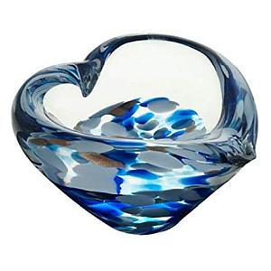 Blue Glass Heart Bowl
