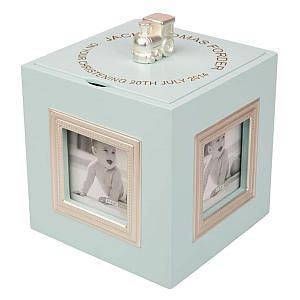 Blue Personalised Musical Photo Box