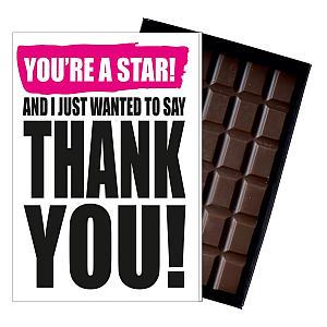 Boxed Chocolate Bar Gift