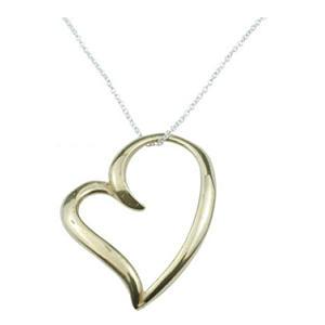 Bronze Open Heart Necklace