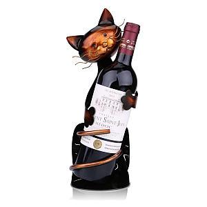 Cat Metal Sculpture Wine Holder