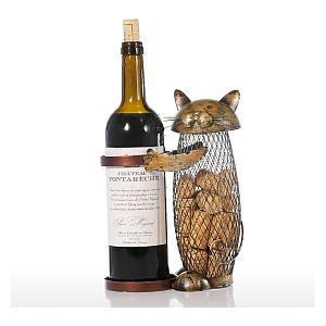 Cat Wine Holder Cork Container