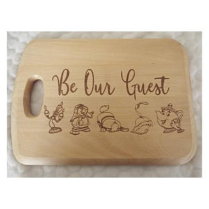 Character Inscribed Wooden Chopping Board