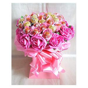Chocolate Bouquet Pink Ferrero Rocher