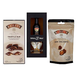 Chocolate Set with Miniature Bottle
