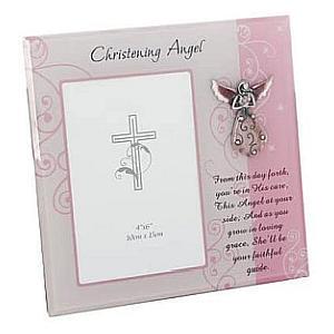 Christening Angel Photograph Frame