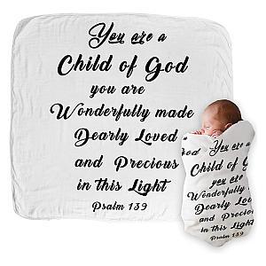 Christening Bible Verse Blanket