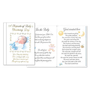 Christening Keepsake Gift Book